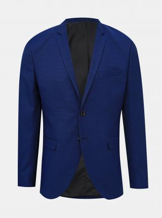 Modré oblekové sako s příměsí vlny Jack & Jones Solaris pánské modrá S