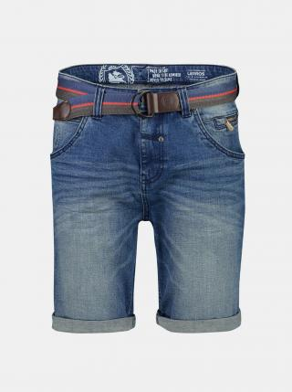 Modré pánské džínové kraťasy s páskem LERROS pánské modrá S-M