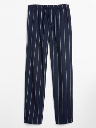 Modré pánské pyžamové kalhoty GAP pánské modrá XL