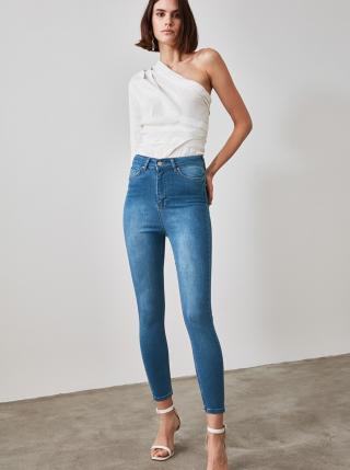 Modré skinny fit džíny Trendyol dámské modrá S