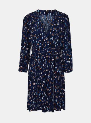 Modré vzorované šaty VERO MODA dámské modrá L