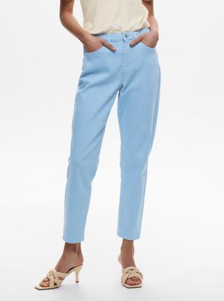 Modré zkrácené mom džíny ONLY Veneda dámské modrá L