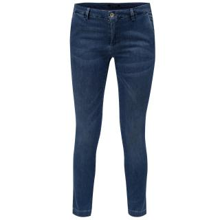 Modré zkrácené slim džíny s nízkým sedem Fornarina Kate dámské modrá 46