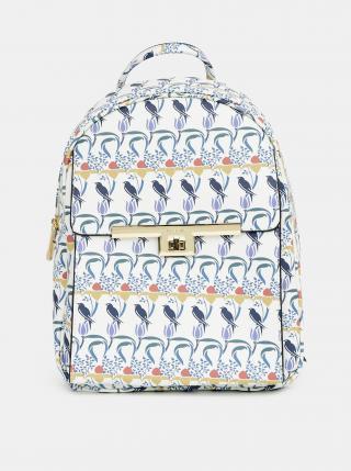 Modro-bílý vzorovaný batoh Bessie London dámské bílá