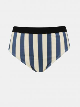 Modro-krémový pruhovaný spodní díl plavek .OBJECT Francise dámské krémová M