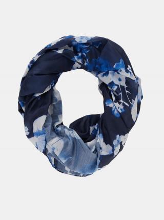 Modrý květovaný šátek Pieces Avola dámské modrá