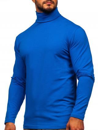 Modrý pánský rolák bez potisku Bolf S6963 L