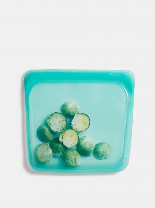Modrý silikonový sáček na potraviny Stasher Sandwich 450 ml modrá