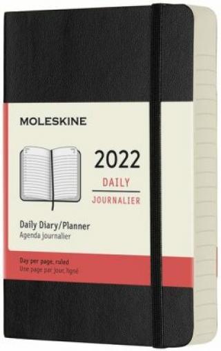 Moleskine Diář 2022 černý S, denní, měkký