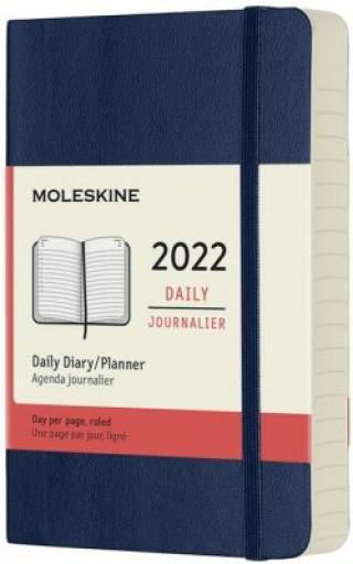Moleskine Diář 2022 modrý S, denní, měkký