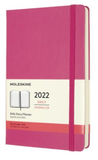 Moleskine Diář 2022 růžový L, denní, tvrdý