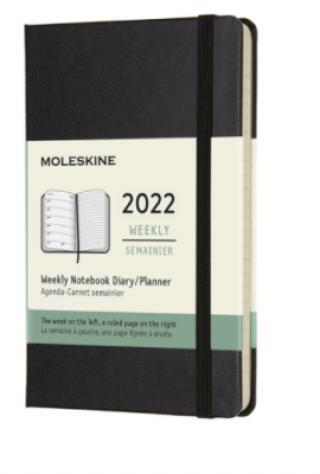 Moleskine Plánovací zápisník 2022 černý S, tvrdý