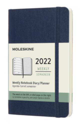 Moleskine Plánovací zápisník 2022 modrý S, měkký