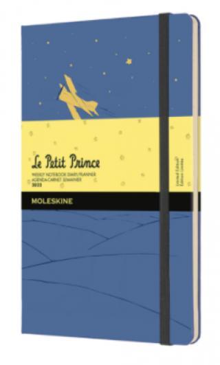 Moleskine Plánovací zpisník 2022 Malý princ modrý L