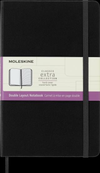 Moleskine Zápisník tvrdý linka/čistý černý L