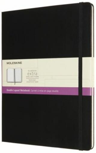 Moleskine Zápisník tvrdý linka/čistý černý XL