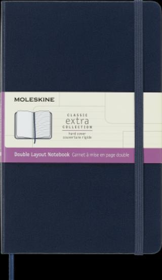 Moleskine Zápisník tvrdý linka/čistý modrý L