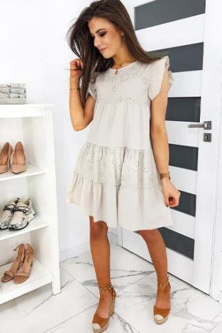 MOLIRAS beige dress EY1222 dámské Neurčeno One size
