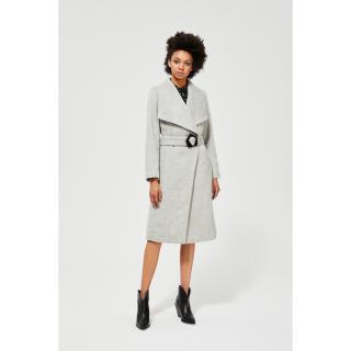 Moodo šedý kabát s páskem dámské šedá L