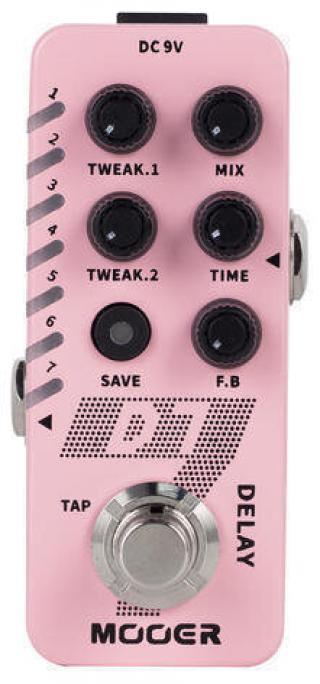 MOOER D7 Delay / Looper Pink