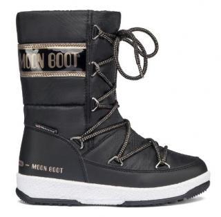 Moon Boot černé zimní boty JR Girl Quilted WP Black/Copper dámské černá 37