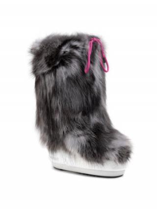Moon Boot Kožešinový návlek na obuv Cover Fox 140COV02001 Šedá 39_41