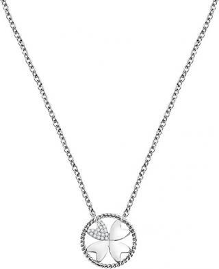 Morellato Ocelový náhrdelník s čtyřlístkem Multigipsy SAQG28
