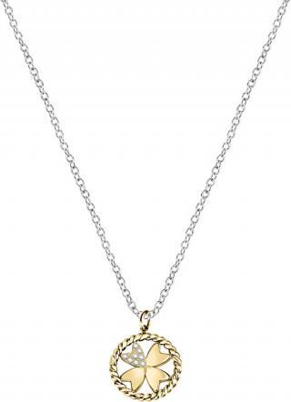 Morellato Ocelový náhrdelník s čtyřlístkem Multigipsy SAQG33