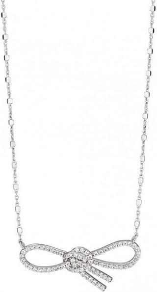 Morellato Stříbrný náhrdelník s třpytivou mašličkou 1930 SAHA03