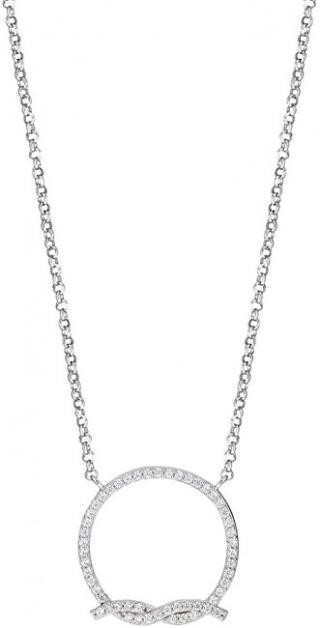 Morellato Stříbrný náhrdelník s třpytivým uzlem 1930 SAHA02