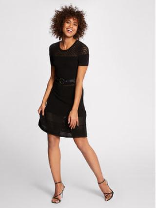 Morgan Úpletové šaty 211-RMVEGA Černá Regular Fit dámské XL