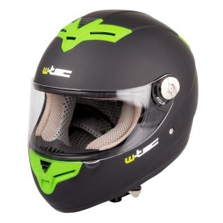 Moto Helma W-Tec V105  Černo-Zelená  Xxs