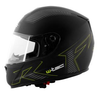 Moto Helma W-Tec V159  Black Elementor Green  Xs