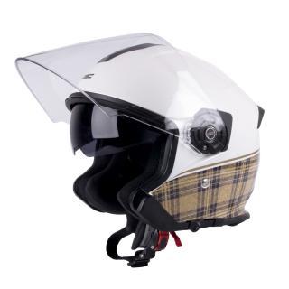 Moto Helma W-Tec V586  Bílá Perleť  Xs