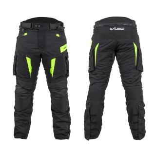 Moto Kalhoty W-Tec Aircross  Černá-Fluo Žlutá  S S