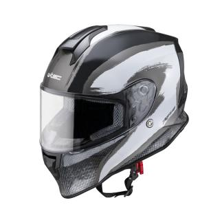 Moto Přilba W-Tec Integra Graphic  Black-White  L