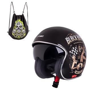 Moto Přilba W-Tec V537 Black Heart  Melisa, Černá Lesk  Xs