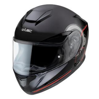 Moto přilba W-TEC Yorkroad Fusion  Black Grey Red Glossy XS