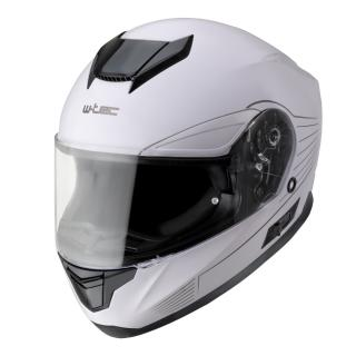 Moto přilba W-TEC Yorkroad Solid  White Grey Glossy  XL