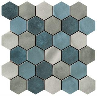 Mozaika Cir Materia Prima mix blue hexagon 27x27 cm lesk 10699191 modrá mix blue