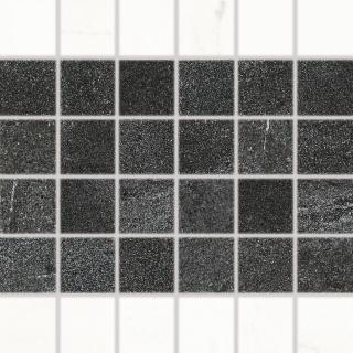 Mozaika RAKO Vein černobílá 30x30 cm mat WDM06233.1 bílá černobílá