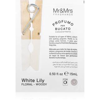 Mr & Mrs Fragrance Laundry White Lily koncentrovaná vůně do pračky 15 ml 15 ml