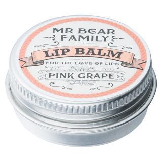 Mr Bear Family Pink Grape balzám na rty pro muže 15 ml pánské 15 ml