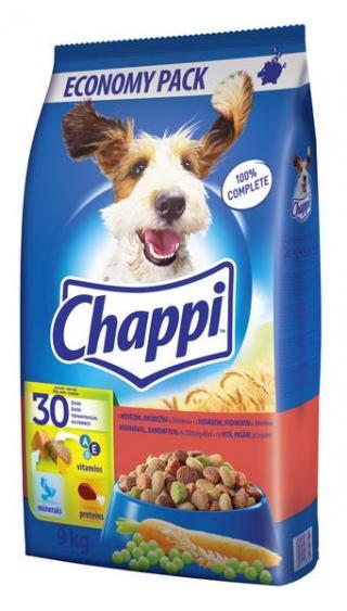 MS Chappi CHAPPI hovězí,Drůbeží,zelenina 9kg