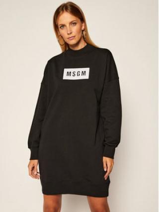 MSGM Úpletové šaty 2941MDA79 207799 Černá Regular Fit dámské XS