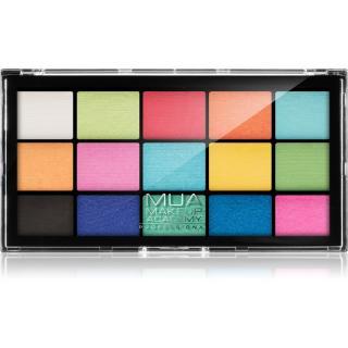 MUA Makeup Academy Professional 15 Shade Palette paletka očních stínů odstín Colour Burst 12 g dámské 12 g
