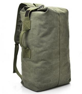 Multifunkční plátěný batoh - 3 barvy Barva: vojenská zelená, Rozměry: 55 cm x 30 cm x 20 cm