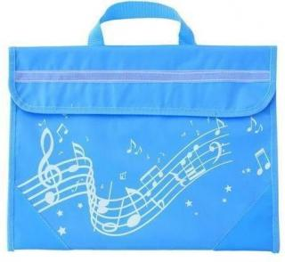 Music Sales Wavy Stave Music Bag Blue Turquoise