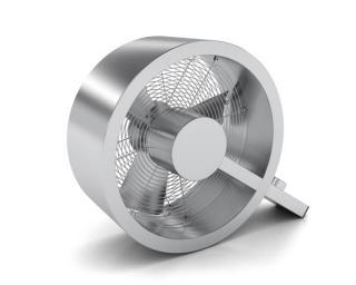 Muzza Podlahový ventilátor q - stříbrný Stříbrná
