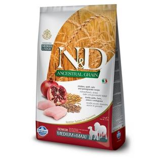 N&d ancestral grain dog senior m/l chicken & pomegrate 12kg